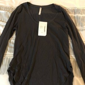 NWT Fabletics gray long sleeve shirt